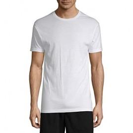 Stafford Mens Crewneck T-Shirts | Tall/X Tall Tagless White Blended | 4 Pack