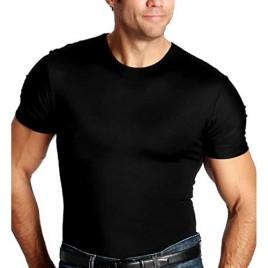 Insta Slim ISPRO Slimming Crew-Neck Short Sleeve Top Shapewear Compression Shirt for Men
