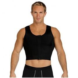 InstantRecovery Mens Compression Chest Control Vest w/Zip Velcro Shoulder Straps