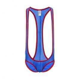 Naturemore Men's Ice Silk One-Piece Jockstrap Leotard Underwear Body Shaping Bodysuit Corset