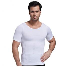 Zerobodys Men's Short Sleeve Shirt Classic Firming Panels Compression SS-M12