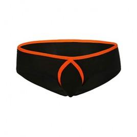 COMLIFE Men's Stretchy Nylon Underwear Breathable Boxer Briefs Solid Color Bikini