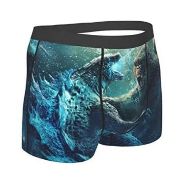 God-Zi-Lla Mens Underwear The Monster Briefs Underwear for Men Ultra-Soft Wicking Comfortable Mens Underpants