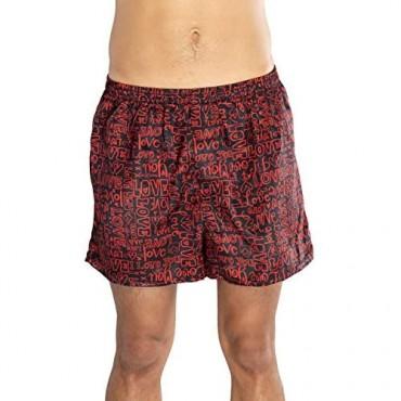 Max Deco Valentine's Day Texts All Over Black Boxer Shorts