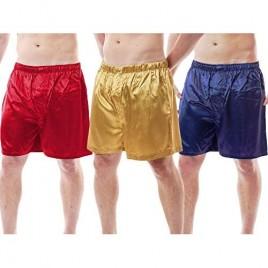 Up2date Fashion Men's Satin Boxer Shorts  Set of 3  Style-MCS01-A