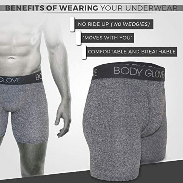Body Glove 6-Pack Mens Micro Modal Boxer Briefs with Contoured Shape