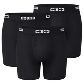 CHOHB Men's Underwear Lenzing Micro Modal 3 Pack Boxer Briefs Men Fly