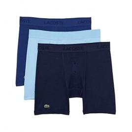 Lacoste Men's Essentials Classic 3 Pack 100% Cotton Boxer Briefs