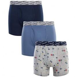 Lucky Brand Men's Underwear – Long Leg Cotton Stretch Boxer Briefs (3 Pack)