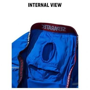 Separatec Men's 3 Pack Sport Performance Dual Pouch Boxer Briefs Underwear