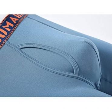 SUMABA Bamboo Underwear Men Long Leg Boxer Briefs for Men M L XL XXL XXXL