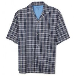 Nautica Men's 100% Yd Woven Atlantic Plaid Campshirt