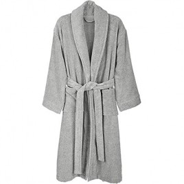 Luxurious Home and Spa Shawl flannel fleece Robe Warm & Thick Flannel Bathrobe for Men