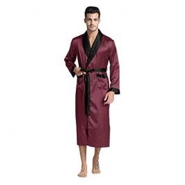 Regency New York Mens Silky Satin Robe