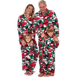 Alexander Del Rossa Men's Warm Flannel Button Down Pajamas  Long Cotton Pj Set  XLT Christmas Camouflage - Mens (A0473N26XT)
