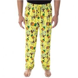 Spongebob Squarepants Men's Pineapple House Adult Loungewear Sleep Pajama Pants