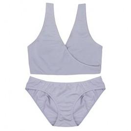 [Buy Bra get Panty Free] Bamboo Cotton Spandex Sleep Bra for Nursing and Maternity