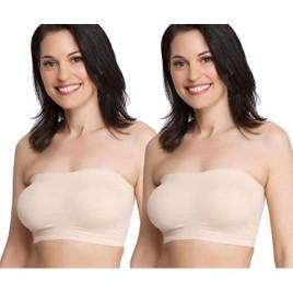 La Leche League Seamless Strapless Nursing Bra (Large Nude 2-Pack)