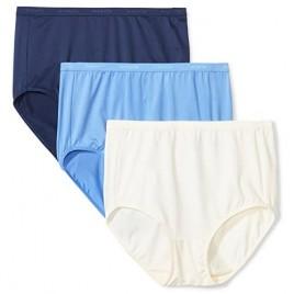 Brand - Arabella Women's Microfiber Brief Panty 3 Pack