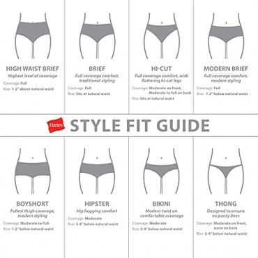 Hanes Women's Perfect Match Second Skin Cotton Brief 4-Pack