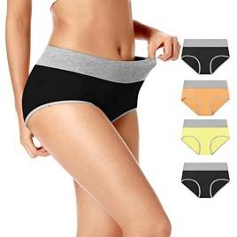 Women's High Waist Cotton Strechy Underwear Briefs