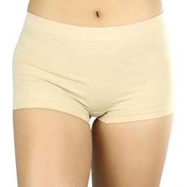 ToBeInStyle Women's Classic Solid Polyester Blend Basic Boyshorts